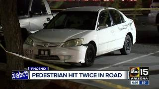 Man dies after being hit by 2 cars in west Phoenix