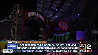CarnEVIL at Merriweather Park hosts its grand opening for Halloween - Video