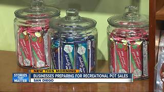 San Diego Marijuana Shops Prepare for Legal Recreational Sales - Video