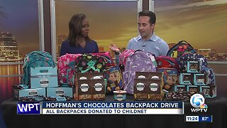 Hoffman's Chocolates backpack drive