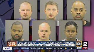 Mayor Pugh supports DOJ decision not to file charges against officers accused in death of Freddie Gray - Video