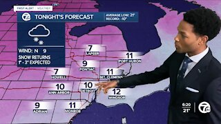 Winter storm heading for Metro Detroit