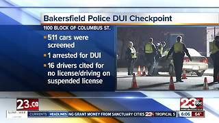Bakersfield Police hold DUI/Driver's License checkpoint - Video