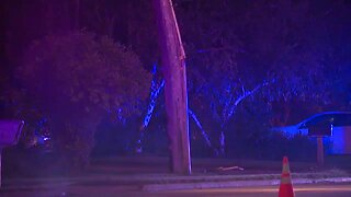 1 person transported after crash on Tiedeman Road