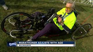 77-year-old priest finishes Milwaukee Marathon without taking a single step - Video