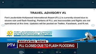 Fort Lauderdale-Hollywood International Airport closed to severe rain, flash flooding