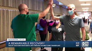 Valley doctors save man's life through double lung transplant after COVID diagnosis