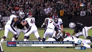 Khalil Mack has jersey retired - Video