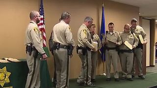 Las Vegas police officers honored at ceremony - Video
