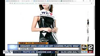 Dress that looks like dry cleaner plastic cover - Video