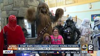 Star Wars characters surprise young patients