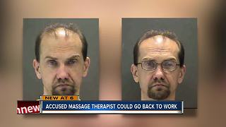 Accused massage therapist could go back to work - Video