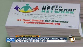 Crisis hotline to help undocumented immigrants - Video