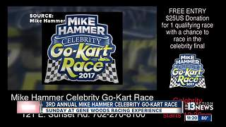 3rd annual Mike Hammer celebrity go-kart race - Video
