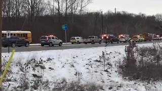 25 students from Lawrence North High School injured in school bus crash - Video