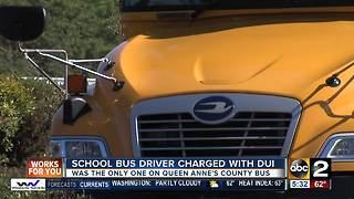 Maryland school bus driver charged with DUI