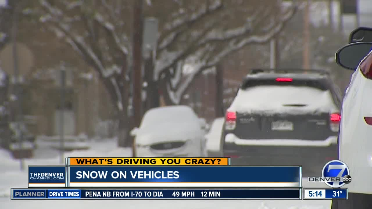 What's Driving You Crazy? Snow on vehicles