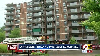 Cincinnati building evacuated due to fire