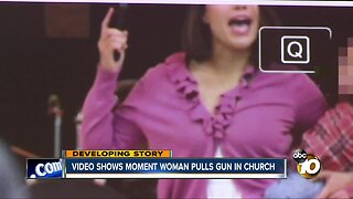 Church security expert discusses video of woman with gun in church