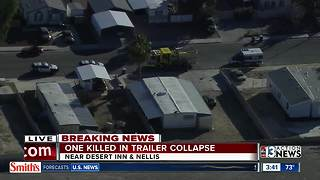 Worker killed after trailer collapse - Video