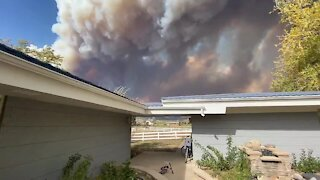 Footage shows devastation of the Cal Wood Fire