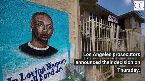 Los Angeles Prosecutors Won't Charge Officer In Death Of Unarmed Man