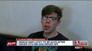 Omaha man survives hit and run - Video