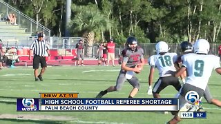 Referee shortage forcing scheduling changes for Friday night football games