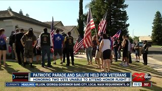 Patriotic parade held for veterans unable to attend honor flight