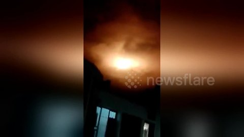 Mysterious blazing object lights up the night sky in Colombia
