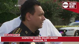 'Possible serial killer' captured after police chase in Houston | News conference