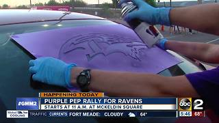 Rally for Ravens Wednesday at McKeldin Square - Video