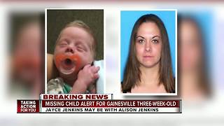 Florida Missing Child Alert issued for 3-week-old baby from Gainesville - Video