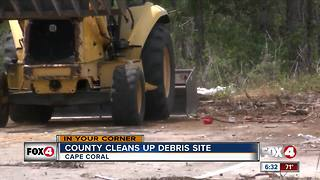 Lee County removes debris 7 months after first complaint