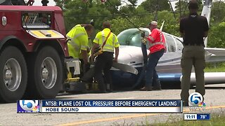 NTSB: Plane lost oil pressure before emergency landing