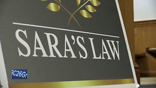 Governor Walker signs Sara's Law