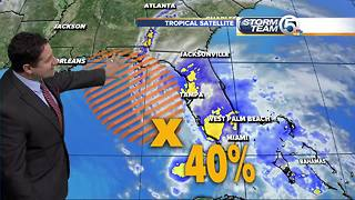 NHC says 40 percent chance for tropical development for system in the Gulf of Mexico - Video