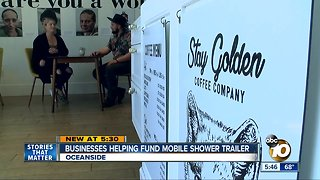 Businesses help raise funds for shower trailer