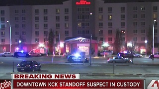 Downtown KCK standoff suspect in custody - Video