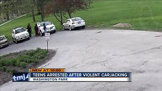 Violent carjacking caught on security cameras - Video