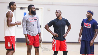 Chris Paul & James Harden Play as Rockets Teammates for the First Time - Video