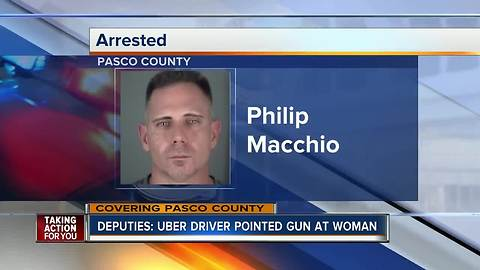 Florida Uber driver charged with pointing gun at motorist because he was upset she was texting