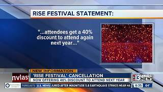 RISE Festival offering discount after canceling