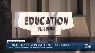 Debate surrounding reopening of schools continues to escalate