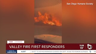 Valley Fire first responders working around the clock