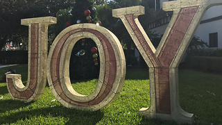 Lowe's donates new 'Joy' sign to Hoffman's Chocolates after theft - Video