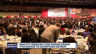 Thousands attend NAACP dinner in Detroit - Video