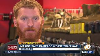 Marine says Vegas rampage was worse than war - Video