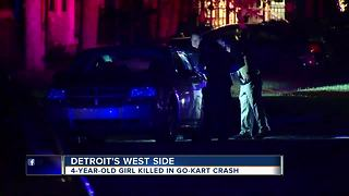 4-year-old girl killed in go-kart crash on Detroit's west side