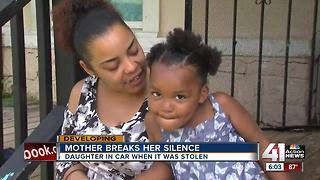 Mom of 3-year-old girl taken in stolen car speaks out - Video
